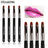 Stellaalpina Lip Brush Nylon Portable Wood Lip