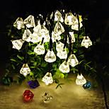 6.5M 30LED Solar Diamond Crystal String Lights Fine Christmas Garden Decortation lights