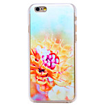 Yellow Flower Pattern Transparent PC Back Cover for iPhone 6 Plus