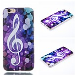Musical Character  Pattern Phone Shell Thin TPU Material for iPhone 6/6S