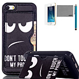LEXY® Don't touch Pattern Soft TPU Back Case with Screen Protector and Stylus for iPhone 5/5S