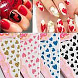 10pcs Mixed Love Glitter Nail Sticker Random Color
