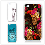 Flowers Letters Pattern PC Phone Case Back Cover Case for iPhone6