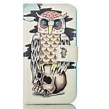búho de la PU billetera de cuero con el soporte de la tarjeta y el soporte para el iPhone 5 5s 5SE 6 6s 6plus 6splus