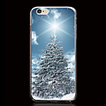 Christmas Tree with Snow Pattern Ultrathin Transparent TPU Soft Back Cover Case for iPhone 6S/6 Plus