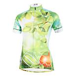 ilpaladinoSport Women Short Sleeve Cycling Jersey New Style Distinctive  DX587  Green leaves 100% Polyester