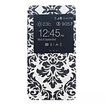 Painting Pattern Bracket Function Card Package PU + PC Flip Case For Huawei P8