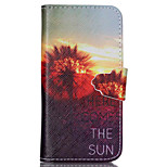 Here Come the Sun Pattern PU Leather Full Body Cover with Stand for iPhone 5/iPhone 5S