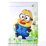 Funny Little Yellow People Pattern PU Material Flip Bracket Protective Case for iPad  Air