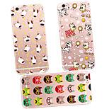tpu posteriore caso maycari®pets'carnival trasparente trasparente per 6s iphone 6 / iphone (colori assortiti)