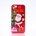 glückliches Weihnachtsmuster glänzende Oberfläche PC-Festtelefonkasten für iphone 5 / 5s