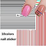 1pcs Simple Stripe 3D Nail Stickers