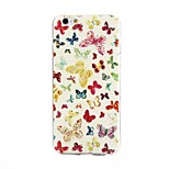 Butterfly Painting Pattern TPU+IMD Ultrathin Back Case For iPhone6/6s