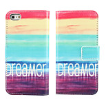 Dreamer PU Leather Flip Case with Magnetic Snap and Card Slot for iPhone 5/5S