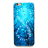 Hakuna Matata 8-Shaped Pattern Transparent PC Back Cover for iPhone 6
