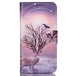Deer Painted PU Phone Case for iphone6/6S