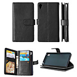 PU Leather+TPU Back Cover Wallet Much Card Holders+Cash Slot+Photo Frame Magnetic Phone Case for Sony Xperia Z3/Z4
