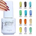 YeManNvYou®12 Colors Soak off Metal Color UV Gel Polish No.1-12(5ml)