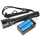 LED taskulamput LED 2 Tila 6000 Lumenia Vedenkestävä / ladattava / Iskunkestävä / Isku viiste / Taktinen / Hätä / itsepuolustus Cree XM-L2