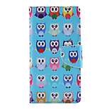 Color Lovely Owl Pattern PU Leather Full Body Cover with Stand for Sony Xperia M4 Aqua