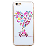 Love Fantasy Bicycle Pattern Transparent PC Back Cover for iPhone 6 Plus