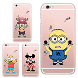 MAYCARI®Poor Cartoon Targets Transparent TPU Back Case for iPhone 5/iphone 5s