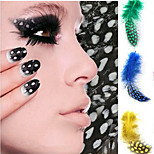 5pcs  Nail Art Feather Decoration