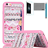 LEXY® Box Tribe Pattern Soft TPU Back Case with Screen Protector and Stylus for iPhone 6/6S