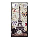 estuche blando mariposa torre de golpeteo pattern pc para Sony Xperia m4