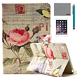 LEXY® China Rose Music Score Pattern PU Leather Flip Stand Case with Screen Protector and Stylus for iPad Mini 4
