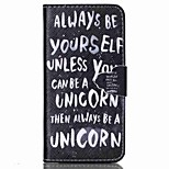 Be Yourself Painted PU Phone Case for iphone6/6S
