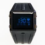 gran reloj inteligente negro estadísticas de frecuencia cardíaca impermeable movimiento llamado la grabación de alerta