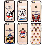 Tide Brand Dog Pattern Acrylic Hard Cover Case for iPhone 6/iPhone 6S (Assorted Colors)