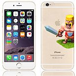 Cartoon Clash of Clans Pattern PC Hard Back Cover Case for iPhone 6/6S