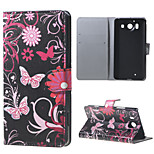 Butterfly Flowers  Wallet Leather Stand Case for  Microsoft Nokia Lumia 950 N950