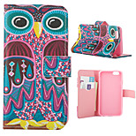Colored Owl Pattern PU Leather Full Body Cover with Stand for iPhone 6/iPhone 6s