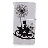 Cycling Lovers Pattern PU Leather Full Body Cover with Stand for Sony Z5