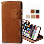 Luxury Card Holder PU Leather Solid Cover Case for iPhone 6 /6S(Assorted Colors)