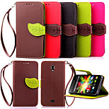 Luxury Leather Card Holder Stand Magnetic Phone Flip Cases Shell Leaf Wallet + Lanyard Cover For WIKO BLOOM