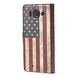 USA Flag Wallet Leather Stand Case for  Microsoft Nokia Lumia 950 N950