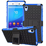 TPU+ PC Hybrid Rugged Rubber Armor stand Hard Cover Cases For Sony Xperia M4 Aqua