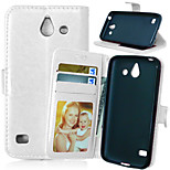 Crazy Horse Flip PU Leather Stand Phone Case Cover with Card Slots for Huawei Ascend Y550 (Assorted Colors)