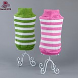 FUN OF PETS® Classic Pink/Green/Blue Stripe Design Winter Sweater Dogs Clothes for Pets Dogs Clothing