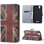 Vintage UK Flag Wallet Leather Stand Case for Acer Liquid Z630 Z630s (5.5 inch)
