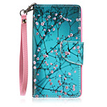 New Lanyard  Plum Flower Pattern PU Leather Material Phone Case for Huawei P8 Lite