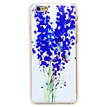 patrón de flor violeta pc transparente de la contraportada para el iphone 6 más