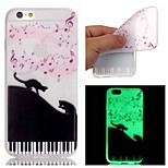 New Note Pattern TPU Material Luminous Phone Case for iPhone 5/5S