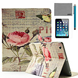 LEXY® China Rose Music Score Pattern PU Leather Flip Stand Case with Screen Protector and Stylus for iPad Air/iPad 5