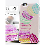 Delicious Macarons Pattern High Quality PU Leather and TPU Back Case for iPhone 6/iPhone 6S