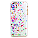 Colorful Round-Dot Pattern Transparent PC Back Cover for iPhone 6